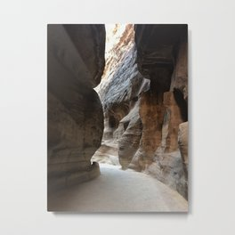 Road to the Treasury (Petra, Jordan) Metal Print