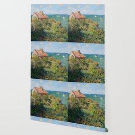 Claude Monet - Fisherman's Cottage on the Cliffs at Varengeville Wallpaper