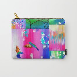 Hummingbird Collage Carry-All Pouch