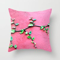 plant Throw Pillows featuring plant by Baptiste Riethmann