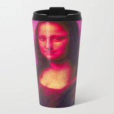 Mona Lisa's Haze (pink) Metal Travel Mug