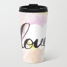 Watercolor floral love Metal Travel Mug