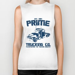 TRANSFORMERS INSPIRED OPTIMUS PRIME TRUCKING trucker Biker Tank