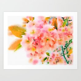 Blossom (Soaked Collection) Art Print
