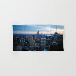 New York City Dusk Hand & Bath Towel