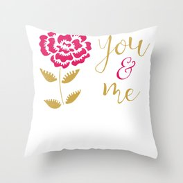 Valentine   You And Me Throw Pillow