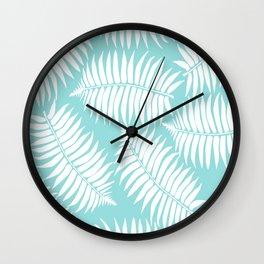 White Leaf Wall Clock