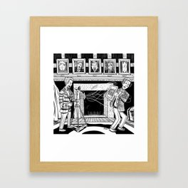 The Tale of the Photo Finish Framed Art Print