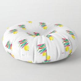 Lemon chilli charm Floor Pillow