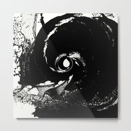 Whirlpool Of Black Metal Print