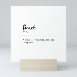 Beach Definition In Black Mini Art Print
