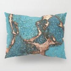 AQUA & GOLD GEMSTONE Pillow Sham