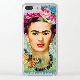 FRIDA Y MARIPOSA Clear iPhone Case