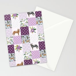 Australian Cattle Dog cheater quilt pattern dog lovers by pet friendly Stationery Cards