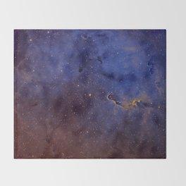Elephant's Trunk Nebula Throw Blanket