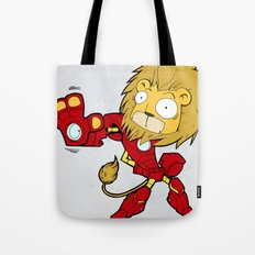 IRON LION - FAN ART AVENGER IRON MAN Tote Bag