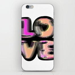 Glitch #love #gimp #typography #lettering #buyart #society6 iPhone Skin