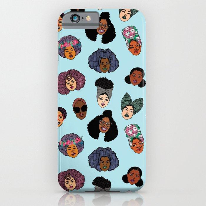Black Hair Magic - Blue iPhone Case