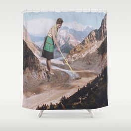 PAST INVADER Shower Curtain