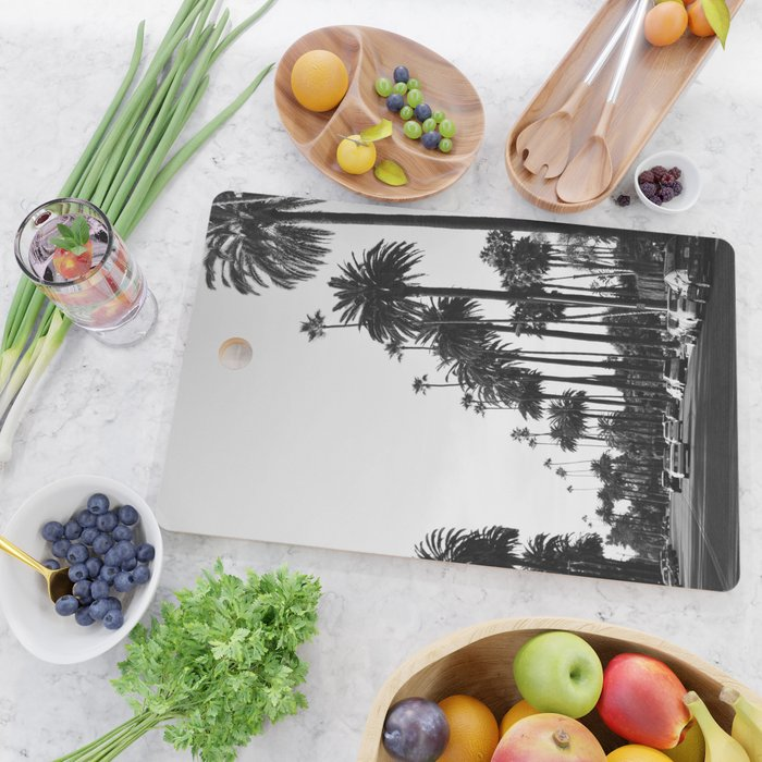 Los Angeles Black and White Cutting Board