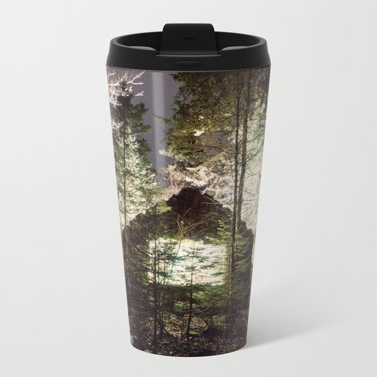 Light in the Forest Metal Travel Mug