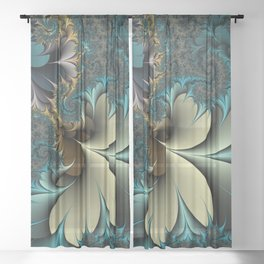 Birds of a Feather Fractal Sheer Curtain