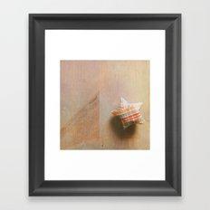 Plaid Lucky Star  Framed Art Print