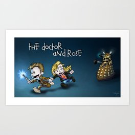 The Doctor and Rose Art Print