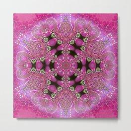 Pink Bohemian Metal Print