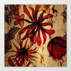 Sketchbook Floral Canvas Print