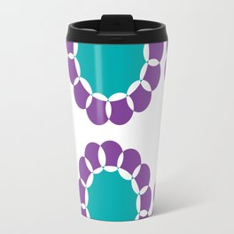 Sunflower Circles Purple & Teal Travel Mug