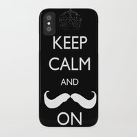 mustache iPhone & iPod Cases featuring Mustache by marianastutz