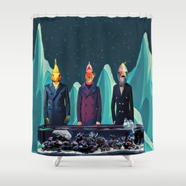Fish tank and professors Shower Curtain