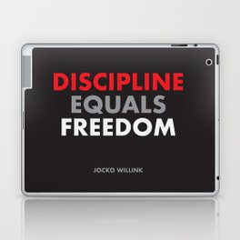 """Discipline Equals Freedom"" Jocko Willink Laptop & iPad Skin"