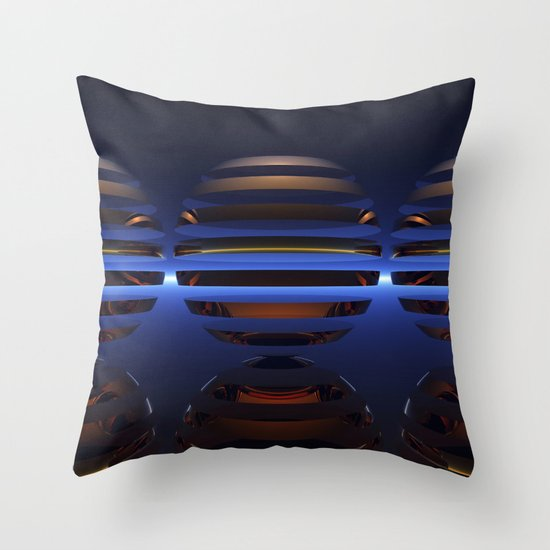 Split Spheres (Night) Throw Pillow