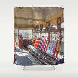 Signal Box Shower Curtain