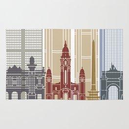 Caracas V2 skyline poster Rug