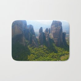 Meditation up to Meteora | Greece | Nature Bath Mat