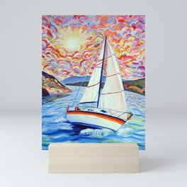 Sailing Okanagan Mini Art Print