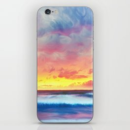 Lonas planet stormy evening iPhone Skin