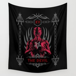 The Devil XV Tarot Card Wall Tapestry