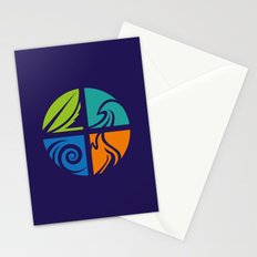 Four elements Stationery Cards