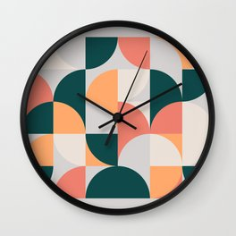 Mid Century Geometric 17 Wall Clock