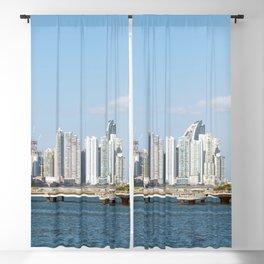 Panama City skyline -  Downtown business district Blackout Curtain