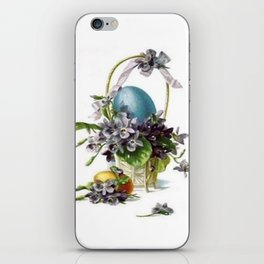 Vintage Easter Basket iPhone Skin
