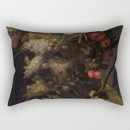 Four Seasons in One Head Rectangular Pillow