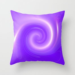 Purple swirl Throw Pillow