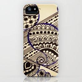 Geometric henna iPhone Case