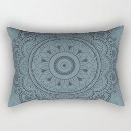 Mandala Watercolor Sketchy, Mandala Yoga, Green Rectangular Pillow