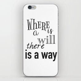 Motivation daily quote iPhone Skin